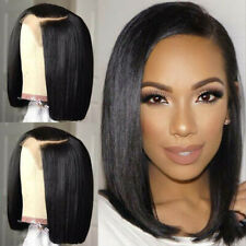 Bob Lace Front Wigs Pre Plucked Natural Peruvian Remy Human Hair Wig Straight Xx