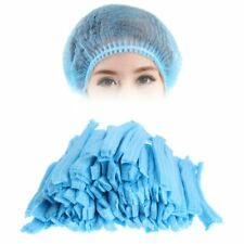 100 Pcs Disposable Head Cover Mob Cap Hat Hair Food Work Net Non Woven Anti Dust