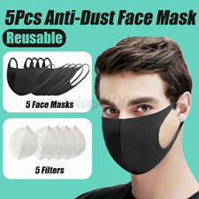 5Pcs Anti-Dust Bacterium Mouth Nose Muffle with 5-Layer Filtration