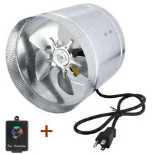 """4"""" 6"""" 8""""Inline Duct Booster Blower Fan Exhaust Ducting Cooling Vent w/Controller"""