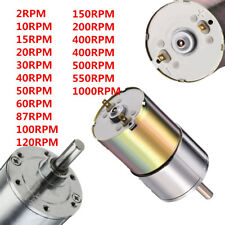 DC 12V 2-1000RPM Powerful High Torque Electric Gear Box Motor Speed Reduction #