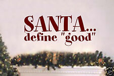 Santa define Vinyl Wall Lettering Word Sticky Christmas