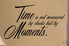 Time is not measured Vinyl Wall Lettering Word Sticky