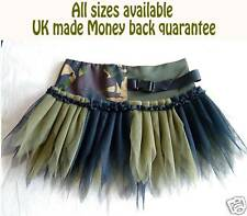 PLUS SIZE ARMY GI TUTU SKIRT ~CAMOUFLAGE FANCY DRESS