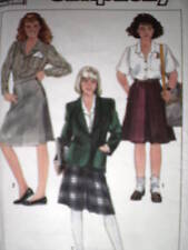 UNCUT VINTAGE Simplicity SEWING Pattern 9274 Misses Skirt Blouse Jacket OOP FF