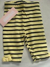 Gymboree CUTE AS CAN BEE Yellow Black Bow Bumble Bee Leggings Pants NWT 0-3
