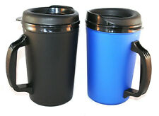2 Foam Insulated 20 oz. ThermoServ Travel Coffee Mugs