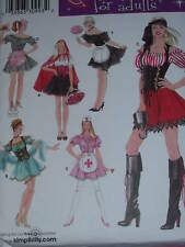 SIMPLICITY #3618 FRENCH MAID,NURSE,PIRATE WENCH PATTERN