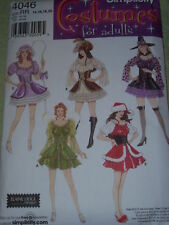 SIMPLICITY 4046 - LADIES SEXY & FUN BO PEEP-ELF-PIRATE COSTUME PATTERN  6-20 uc