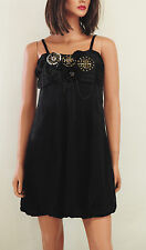 Little Black Steampunk Bubble Punk Party Dress S M L