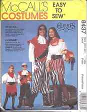 8437 UNCUT McCalls Sewing Pattern Adult Child Pirate Sea Wench Costume Halloween