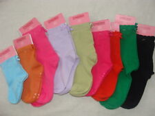 Gymboree Bow Socks Orange Black Blue Green Purple NWT