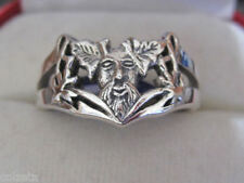 GREEN MAN ** RING ** Sterling silver