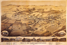 1871 MAP CITY LOS ANGELES CALIFORNIA POSTER REPR POSTER