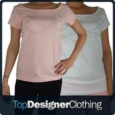 Ladies Elle T-Shirt Tee Top Graphic Sexy Tie Back Size