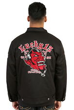 Lucky 13 Grease Gas Glory Red Devil Hot Rod Car Chino Jacket,