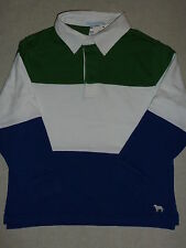 Janie and Jack ROWING CREW Blue Green Colorblock Rugby Striped Shirt Top NWT 3 5