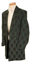 MENS GREEN BROCADE FROCK COAT FANCY DRESS COSTUME GOTH FROCKCOAT 38 40 42 44 46