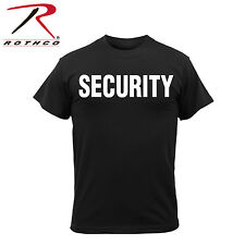 Security Guard T Shirt Black Poly/Cotton Double Sided Security Officer T-Shirt