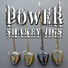 POWER SHAKEY Jig Heads. Best sizes/colors. Qty: 5 per pack. Bass fishing jigs