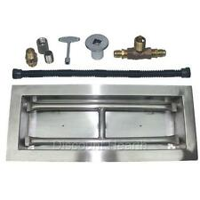 "18"", 24"", 30"", 36"", 48"" H Burner Drop In Stainless Steel Gas Burner LP KIT"
