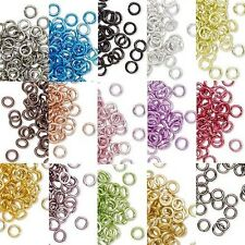 Lot of 100 Small 4mm 20 Gauge Colored Aluminum Open Round Jumprings Jump Rings