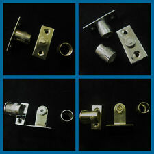 Curtain rod sockets - Brackets for 10mm diameter rods tube in Chrome and brass