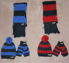 Hollister Striped Vintage Scarf, Cozy Hat & Classic Gloves Set NWT 2 colors **
