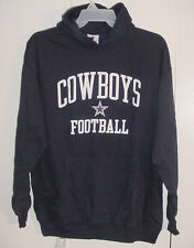 NWT New Dallas Cowboys MENS Logo Pullover Hoodie SweatShirt Navy Blue Sz M