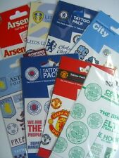 OFFICIAL FOOTBALL CLUB ITEMS - Tattoos - 2 Sheets/pack {9+ Clubs Available}