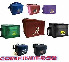 NCAA College Lunch Box Bag 6 Pack Cooler Insulated Tote - Pick Team