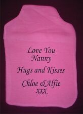 Personalised Hot Water Bottle Cover - Great Gift for All Various Colours