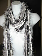 NEW HANDMADE KNOTTED SOFT YARN SCARF SCARVES FOR ADULTS MANY COLORS