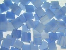 CLOUDY  SKY BLUE handcut stained glass mosaic tiles #166