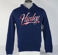 Hurley Signature Sherpa Lined Navy Blue Hoodie Hooded Sweat Jacket Mens NWT $79