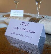 Personalised Table Name Place Cards Wedding Birthday Meeting Meal Setting