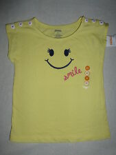 Gymboree CAPE COD CUTIE Yellow Pink Smile Face Button Top Tee Shirt NWT