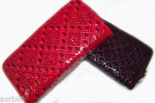 clutch purse wallet card case card holder red or black new