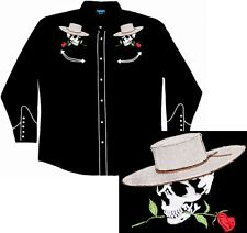 Skulls Guns and Roses Western Shirt, Benny's