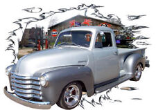 1951 Silver Chevy Pickup Truck Custom Hot Rod Garage T-Shirt 51, Muscle Car Tee