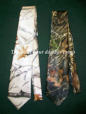 Mens Satin Formal CAMO Neck Tie Custom Made in the USA