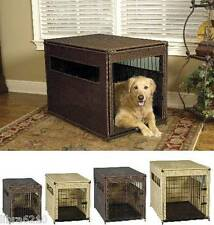 Mr. Herzher's Pet Residence Stylish Wicker Dog Crate SMALL MEDIUM LARGE XL NEW