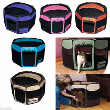 SM-XL Dog Cat Puppy Containment Travel Exercise Soft Play Pen Crate Pet Gear NEW