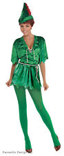 LADIES PETER PAN ROBIN HOOD ELF BOOK WEEK FANCY DRESS COSTUME OUTFIT NEW 12-14