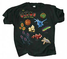 Kids T Shirt Germs Front & Back Graphics Swine Flu E Coli Measles Chicken Pox
