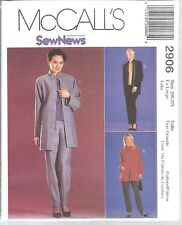 UNCUT McCalls Sewing Pattern Misses SEWNEWS Unlined Jacket Pull on Pants 2906 FF
