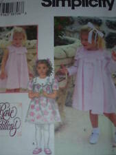 SIMPLICITY #9465 - GIRLS BEAUTIFUL & ELEGANT DRESS w/LG. COLLAR PATTERN  6M-4 uc