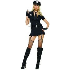 Sexy Cop Costume Adult Female Police Woman Halloween Fancy Dress