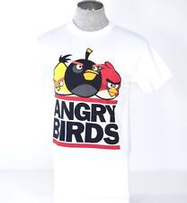Angry Birds White Short Sleeve Graphic Tee T Shirt Mens NEW