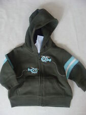 Gymboree TINY COPTER Green Helicopter Zip Hoodie Hooded Jacket NWT Fall Winter